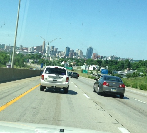 . . . the skyline of Cincinnati . . .