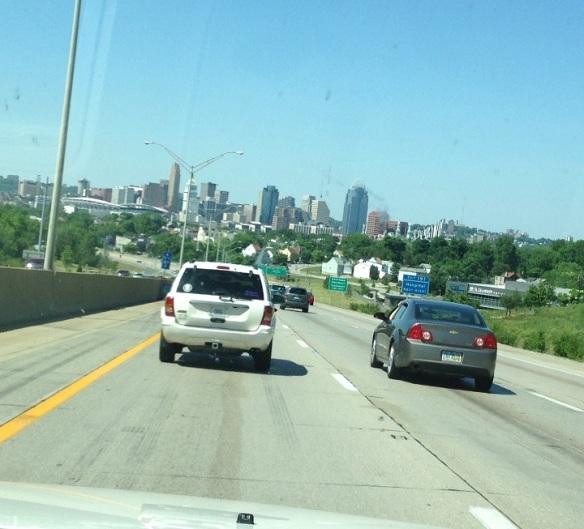 . . . the skyline of Cincinnati . . .