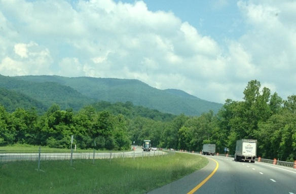 The Great Smoky Mountains of Tennessee . . .