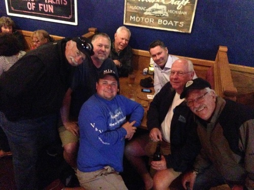 Guys night at the Pink Pony.  These friends got together practically once a day!