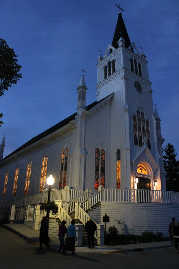 Walking home to the Mission each evening gave me lots of opportunities to photograph St. Anne's at twilight.