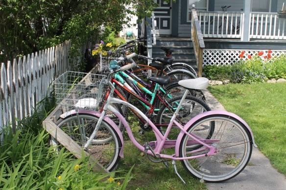 Pretty bikes all in a row.