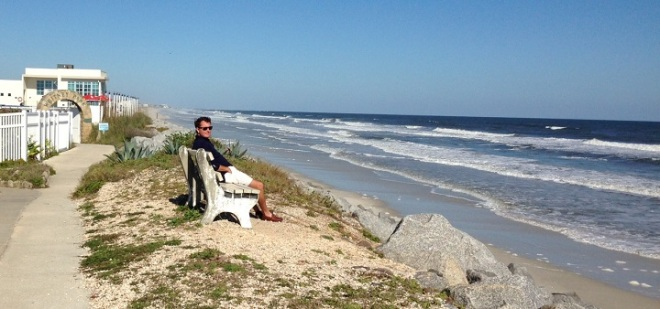 Jason - enjoying the ocean view.