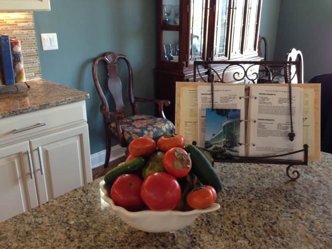 . . . I promptly filled a bowl with all the beautiful produce we brought home!
