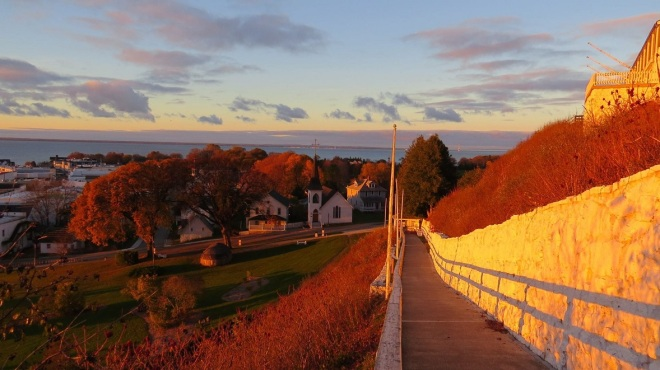Also pre-snow.  A gorgeous photo of fall on Mackinac from the fort.  (Photo: Clark Bloswick)