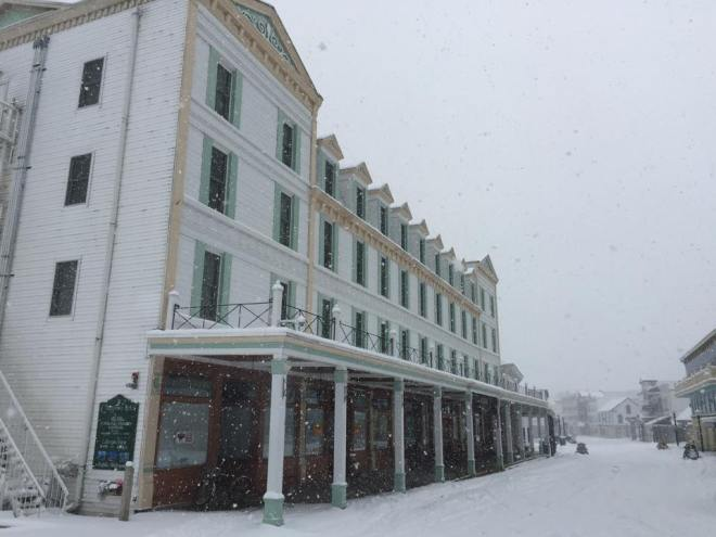 The Chippewa Hotel - either BEFORE the melt or AFTER the next snowstorm! (Photo: Josh Carley)