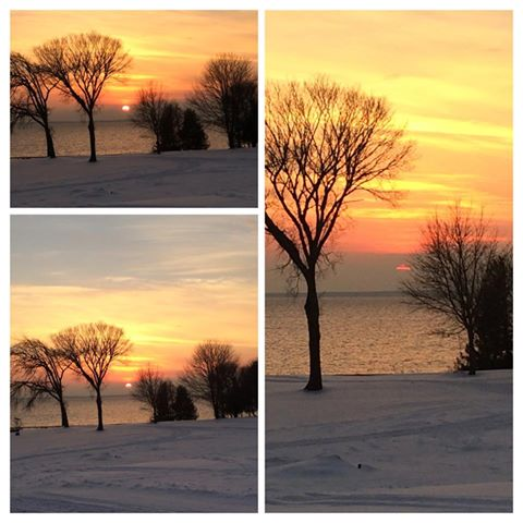 Three different photo taken Friday - 5 minutes apart.  (Photo:  Tracy Cowell)