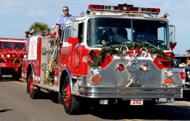 . . . and an awesome fire truck carrying . . .