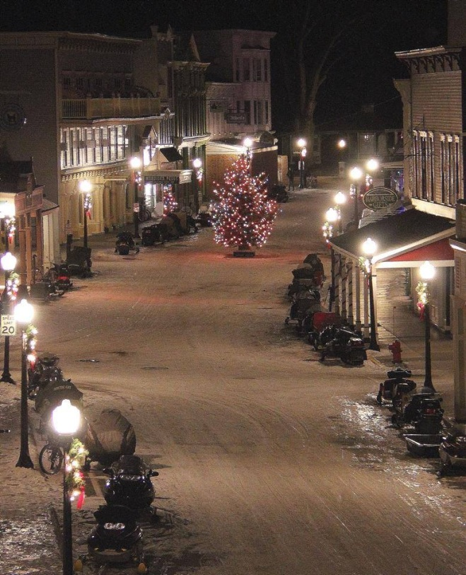 The Christmas Bazaar was this weekend on Mackinac, which means the lighting of the Main Street Christmas Tree - beautifully shot by Main Street Inn & Suites.