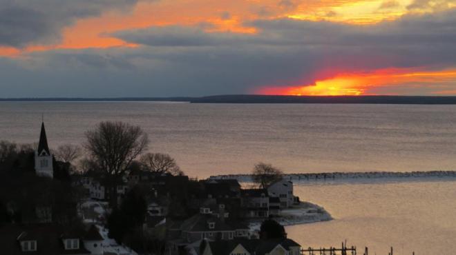 January 2nd sunrise.  (Photo: Clark Bloswick)