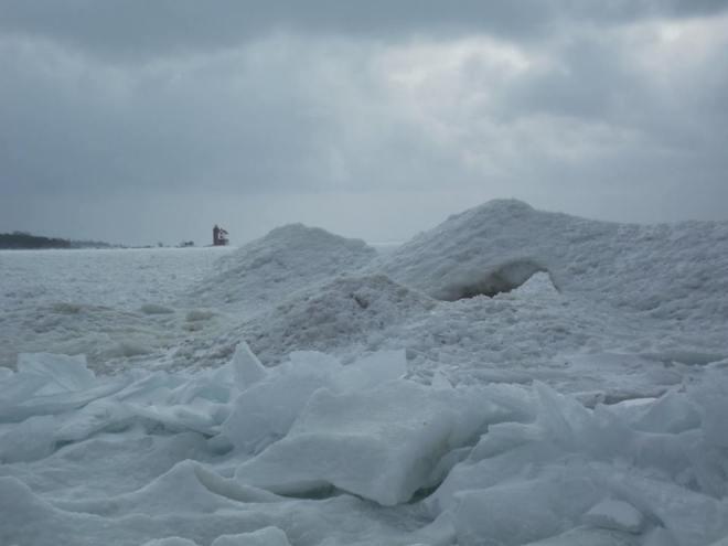 Some boardwalk ice magic.  (Photo: Greg Main)